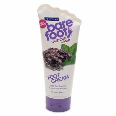 Freeman Bare Foot Healing Foot Cream Lavender & Mint 5.3 fl oz(pack of 4)