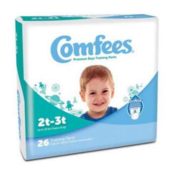 Comfees boy training pants - size 2t-3t part no. cmf-b2 (26/package)