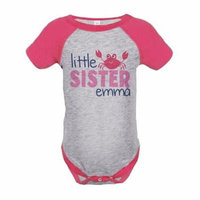 Custom Party Shop Little Sister Summer Raglan Onepiece - 12 Months