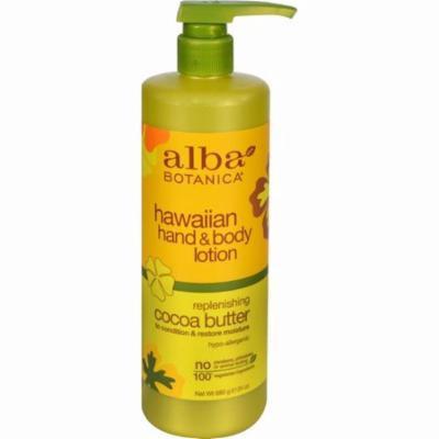 Alba Botanica Hawaiian Hand And Body Lotion Cocoa Butter - 24 Fl Oz
