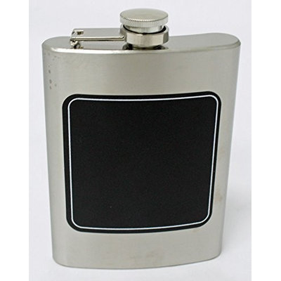 Perfect Life Ideas 8 Oz Stainless Steel Liquor Hip Flask with Chalkboard Front Novelty Flask