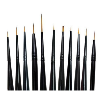 Majestic Royal and Langnickel Short Handle Paint Brush Set, Detail, 11-Piece