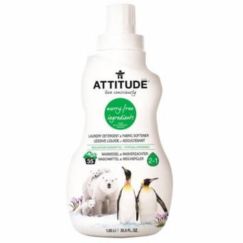 ATTITUDE, Laundry Detergent & Fabric Softener, Mountain Essential, 35.5 fl oz (pack of 4)