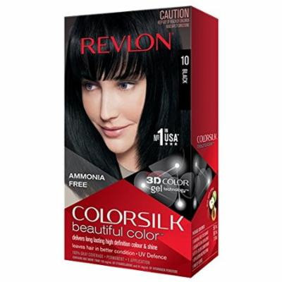 Revlon Colorsilk Beautiful Color, Black 1.0 ea(pack of 4)