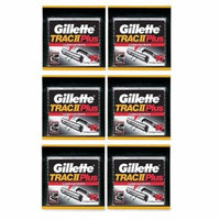 Gillette Trac II Plus Refill Razor Blades 10 ct. (Pack of 6) + Old Spice Deadlock Spiking Glue, Travel Size, .84 Oz