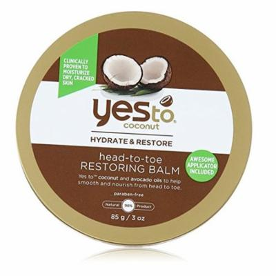 Yes To Coconut Hydrate & Restore Head-to-toe Restoring Balm, 3 Oz + Scunci Black Roller Pins, 18 Pcs