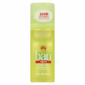Ban Roll-On Antiperspirant & Deodorant Regular 3.5 fl oz(pack of 12)