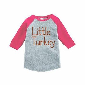 Custom Party Shop Baby's Happy Thanksgiving Pink Raglan - 3T