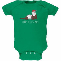 Ferry Merry Christmas Ferret Soft Baby One Piece