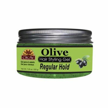 Okay OKAY-OLIVEG7 7.25 oz Olive Hair Styling Gel, Regular Hold