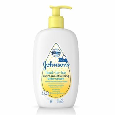 Johnsons Baby Head-To-Toe Extra Moisturizing Cream, 15 oz , 3 Pack
