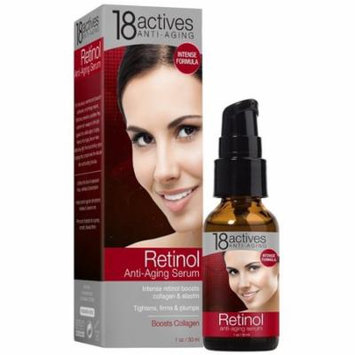 18Actives Retinol Anti-Aging Serum, This age-defying serum boosts collagen and elastin for younger looking skin. By 18 Actives