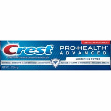 Crest Pro-Health Advanced Whitening Power Toothpaste 5.1 oz.(pack of 6)