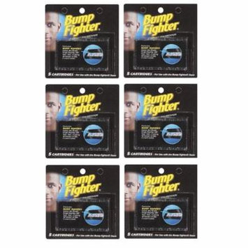 Bump Fighter Refill Cartridge Blades 5 Ct. Each (6 packs) + Old Spice Deadlock Spiking Glue, Travel Size, .84 Oz
