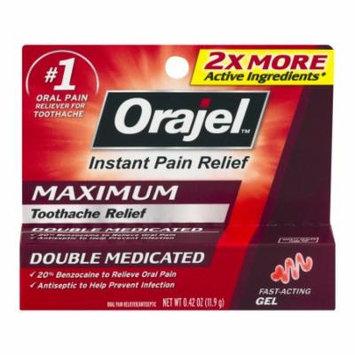Orajel Instant Toothache Pain Relief Maximum Strength Gel 0.42 oz.(pack of 3)