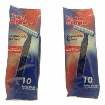 New World Men's Economy Twin Blade Disposable Razors - 2 Pack
