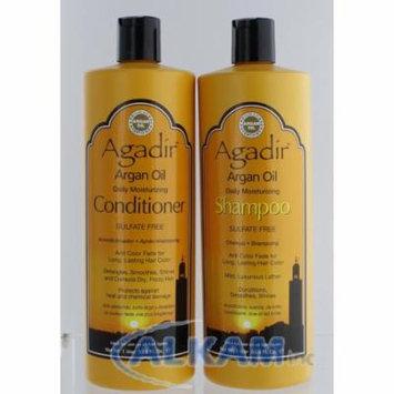Agadir Argan Oil Daily Moisturizing Shampoo 33.8oz & Conditioner 33.8 Oz Combo, Brand New, Sealed