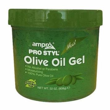 Ampro Pro Styl Olive Oil Hair Styling Gel, 32 Oz, 3 Pack