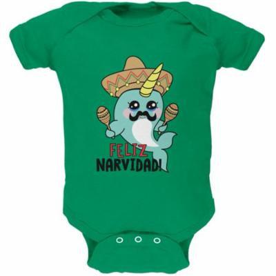 Christmas Narwhal Feliz Narvidad Navidad Soft Baby One Piece