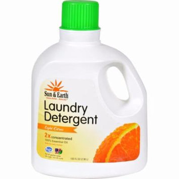 Sun And Earth Natural Laundry Detergent - Light Citrus - Pack of 4 - 100 Oz