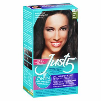Just 5 Just 5 Women's Hair Color Black Black 1.0 application(pack of 12)