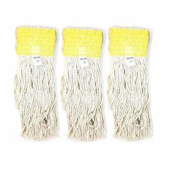 A World Of Deals 3 Piece Commercial Cut-End Cotton Mop, 16 oz.