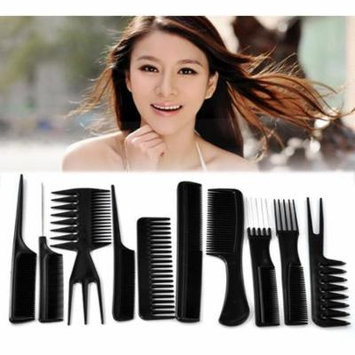 Sexy Sparkles 10 Pcs Set of Professional Combs Hairdressing Barber Salon Styling Set