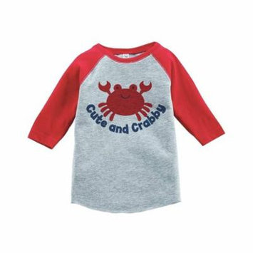 Custom Party Shop Cute and Crabby Summer Raglan Tee - 4T