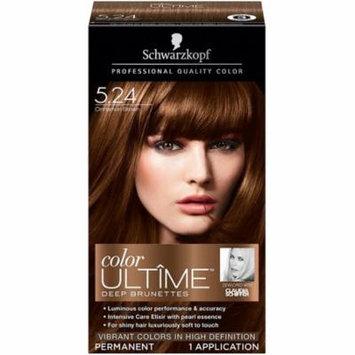 Schwarzkopf Color Ultime Deep Brunettes Hair Coloring Kit, Cinnamon Brown [5.24] 1 ea (Pack of 3)