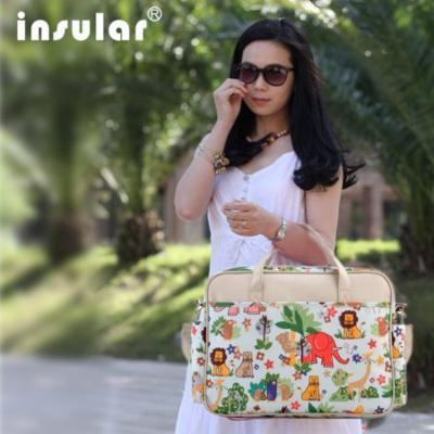 INSULAR Multifunctional Mummy Bag Single Shoulder Baby Diaper Bag Nappy Bag Mummy Bag