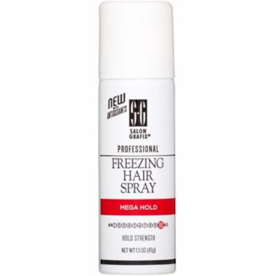 Salon Grafix Mega Hold Freezing Hair Spray, 1.5 oz (Pack of 6)