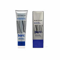 Barc Cutting Up, Unscented Shave Cream, 6 Oz + Barc Bump Down Razor Bump Relief, Alcohol-Free, Unscented Lotion, 3.34 Oz + Schick Slim Twin ST for Dry Skin