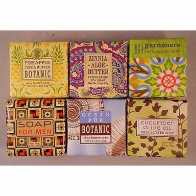 Greenwich Bay Shea Butter Luxury Spa Soap, 1.9 oz. - Set of 6 Different Scents!