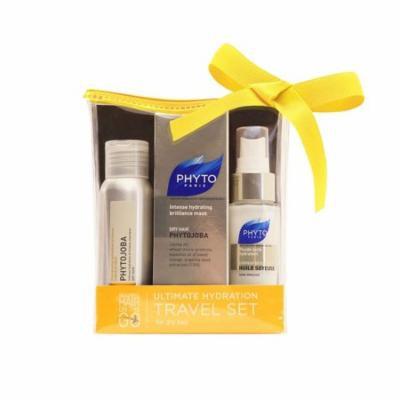 Phyto Phytojoba 3 Piece Ultimate Hydration Travel Set: Shampoo 1.7 Oz, Mask 1.7 Oz, Huile Soyeuse 1 Oz + Schick Slim Twin ST for Dry Skin