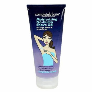 Completely Bare completely smooth Moisturizing No-bump Shave Gel Fresh 6.0 oz.(pack of 1)