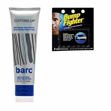 Barc Cutting Up, Unscented Shave Cream, 6 Oz + Bump Fighter Cartridge Refill, 5 Ct + Schick Slim Twin ST for Sensitive Skin