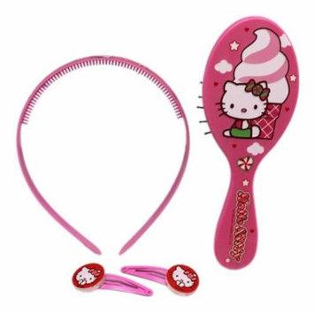 Hello Kitty Sweet Treat Themed Girls Hair Care Accessory Set (3pc)