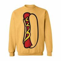 Allntrends Adult Sweatshirt Hot Dog Top Food Costume Cool Halloween Top (XL, Honey)