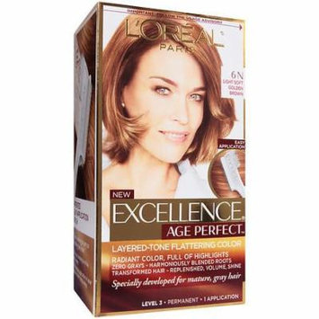 L'Oreal Paris Excellence Age Perfect Permanent Layered-Tone Flattering Color, Light Soft Golden Brown 1.0 ea(pack of 3)