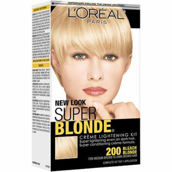 L'Oreal Paris Super Blonde Creme Lightening Kit Bleach Blonde 1.0 ea(pack of 3)