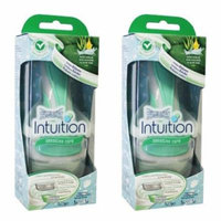 Wilkinson by Schick Intuition Sensitive Care Razor with 1 Refill Cartridge and Shower Hanger (2 Pack) + Scunci Black Roller Pins, 18 Pcs
