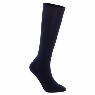 Lian LifeStyle Unisex Children 4 Pairs High Crew Combed Cotton Socks Medium (9Y-12Y) Navy