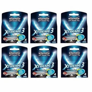 Wilkinson Sword Xtreme3, 4 Count Refill Razor Blades (Pack of 6) + Schick Slim Twin ST for Sensitive Skin