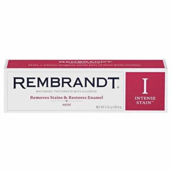 Rembrandt Intense Stain Whitening Toothpaste with Fluoride Mint, 3.52 oz, 2 Pack