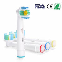 4pc Fitnate Electric Toothbrush Replacement Heads for Oral B PRO Bright Braun Generic 3D White