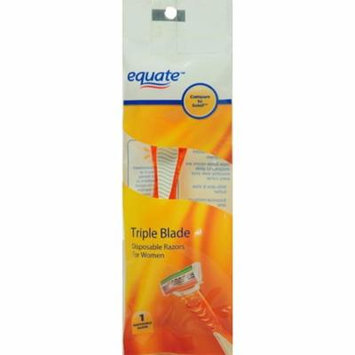 Equate Triple Blade Disposable Razor for Women, 1 Ct