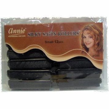satin roller curler SMALL size hair accessories, annie silky satin roller small size 1/2 diameter x 2 1/2 long 12 count By Annie