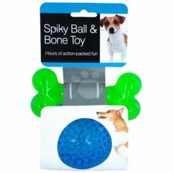 Eros KOLOF882 Spiky Ball & Bone Dog Toy Set - Case of 6