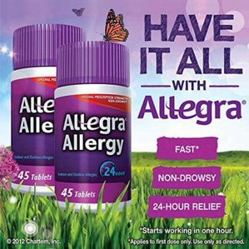 Allegra Adult 24 Hour Allergy Tablets, 180Mg, 70 Count - 3Pack( 270 count total)