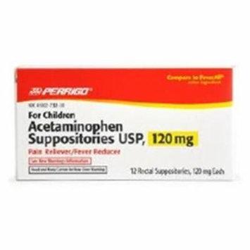 WP000-45802000000 45802000000 Acetaminophen Suppository Pedi 120mg 12 Per Box From Perrigo Pharmaceuticals -# 45802000000